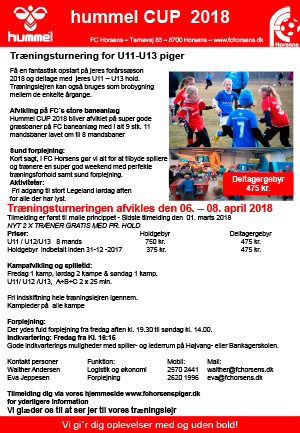 Flyers for hummel CUP 2017